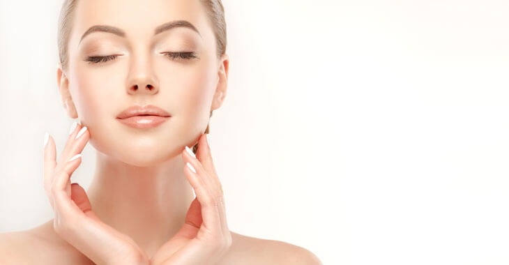woman with smooth skin after auralyft