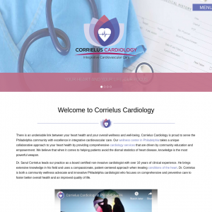 Corrielus Cardiology website