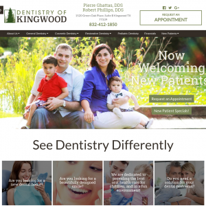 Dentistry of Kingwood website