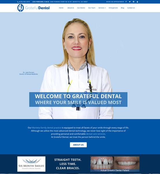 Grateful Dental website