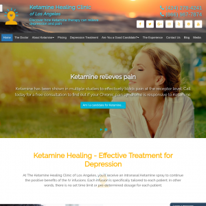 Ketamine Healing Clinic of Los Angeles website
