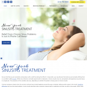New York Sinusitis Treatment website