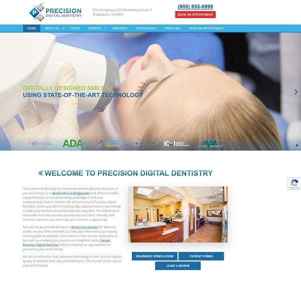 Precision Digital Dentistry website