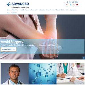 Advanced Healing Institute – Arthritis and Sports Medicine Clinic website