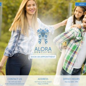 Alora Dentistry website