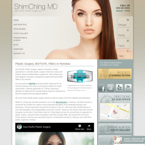 Asia Pacific Plastic Surgery: Dr. Shim Ching website
