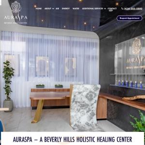 AuraSpa Beverly Hills Center website