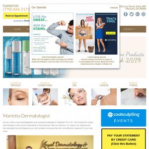 Kayal Dermatology & Skin Cancer Specialists website