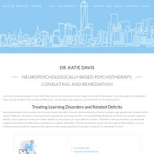 Dr. Katie Davis, PsyD website