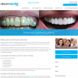 Dream Dentist website