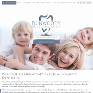 Dunwoody Family & Cosmetic Dentistry website