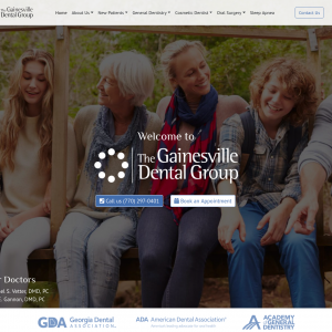 Gainesville Dental Group website