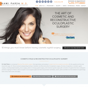 Kami Parsa M.D. Oculoplastic Surgery website