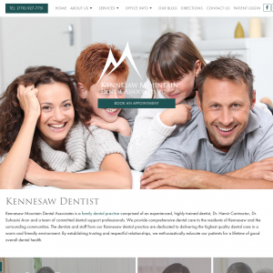 Kennesaw Mountain Dental Associates website