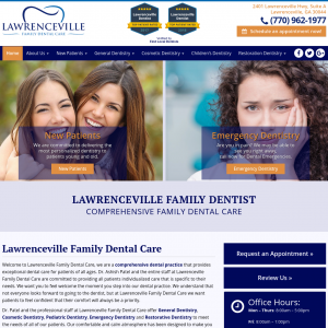 Lawrenceville Family Dental Care website