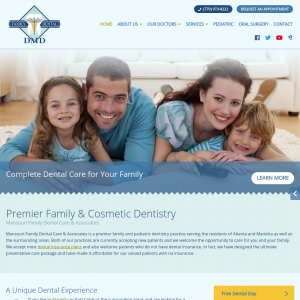 Mansouri Family Dental Care & Associates website