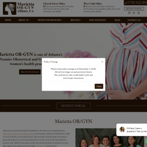 Marietta OB-GYN Affiliates, P.A. website