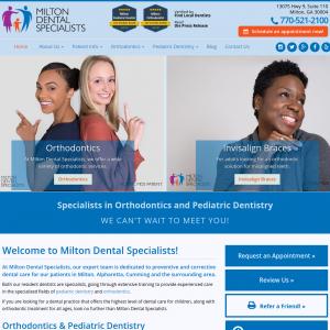 Milton Dental Specialists website