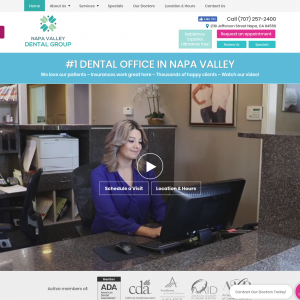 Napa Valley Dental Group website