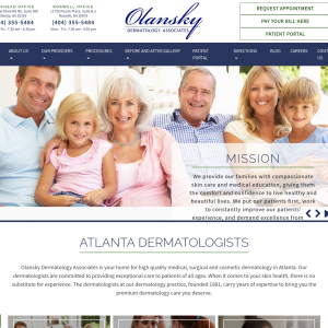 Olansky Dermatology Associates website