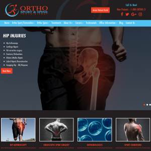 Ortho Sport & Spine Physicians website
