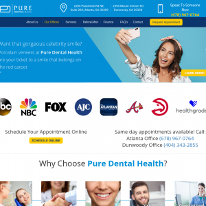 Pure Dental Health website