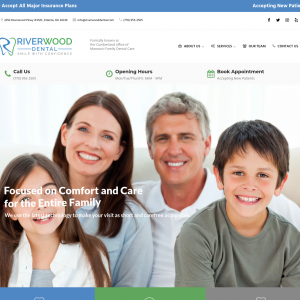 Riverwood Dental website