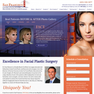 San Francisco Center for Facial Plastic, Reconstructive & Laser Surgery website