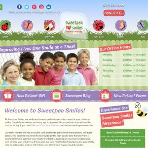 Sweetpea Smiles website