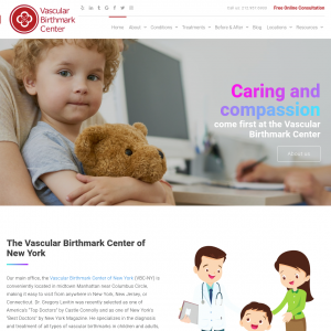 The Vascular Birthmark Center of New York website