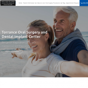 Torrance Oral Surgery and Dental Implant Center website
