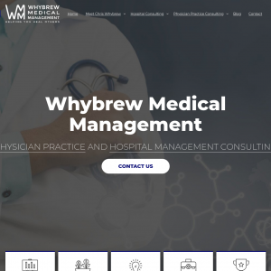 Whybrew Medical Management and Health Care Consulting website