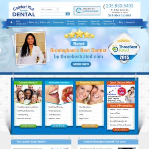Comfort Plus Family Dental website