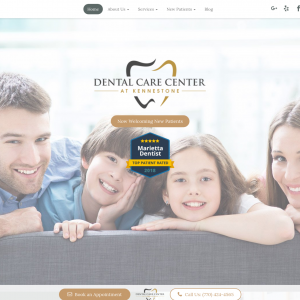 Dental Care Center at Kennestone website
