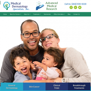 Medical Dermatology Specialists website