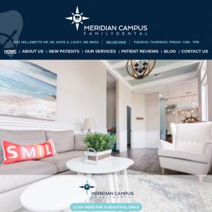 Meridian Campus Family Dental website