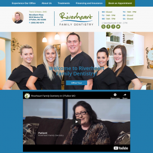 Riverheart Family Dentistry website