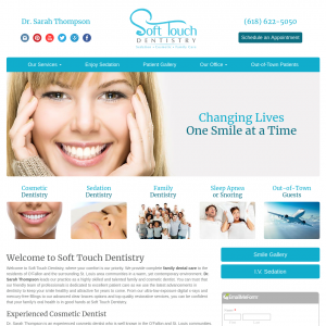 Soft Touch Dentistry website