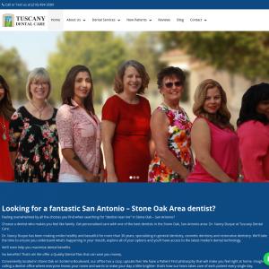 Tuscany Dental Care website