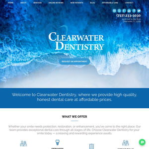 Clearwater Dentistry website