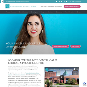 Aesthetic & Implant Dentistry of Atlanta website