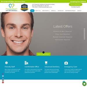 Marietta Dental Professionals website