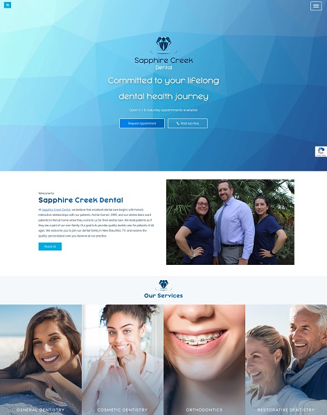 Sapphire Creek Dental website