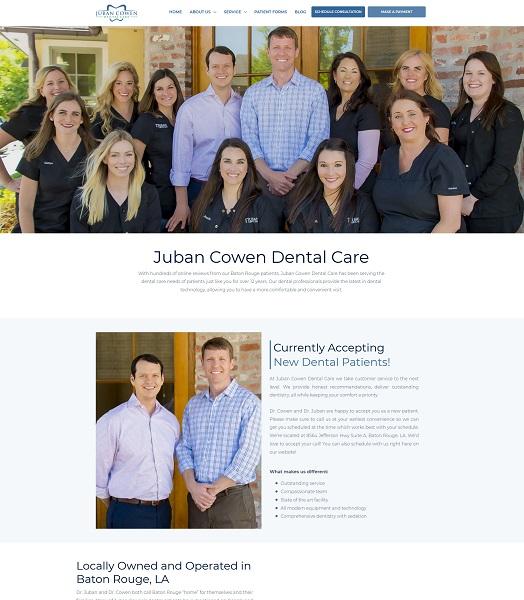 Juban Cowen Dental Care website