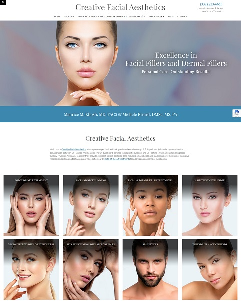 Creative Facial Aesthetics website