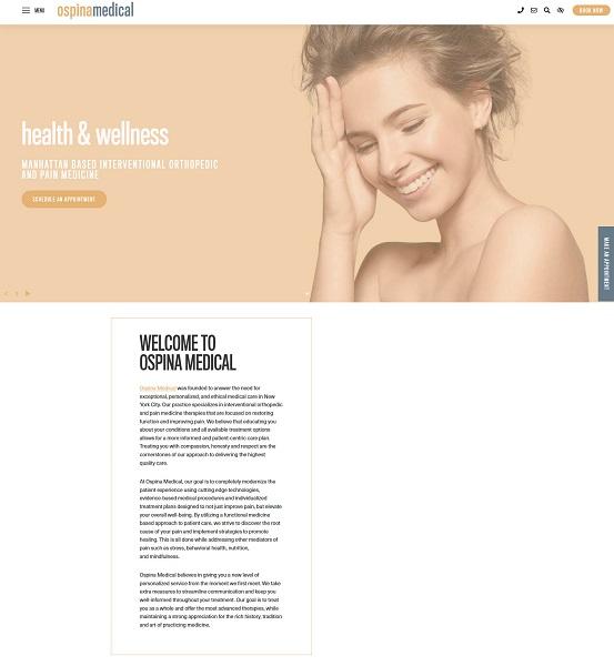 Ospina Medical website