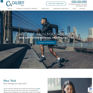 NYC Pain Management Specialists – Caliber Pain website