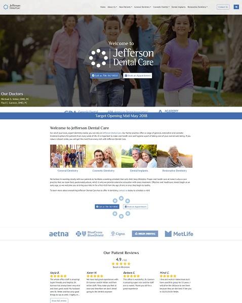 Jefferson Dental Care website