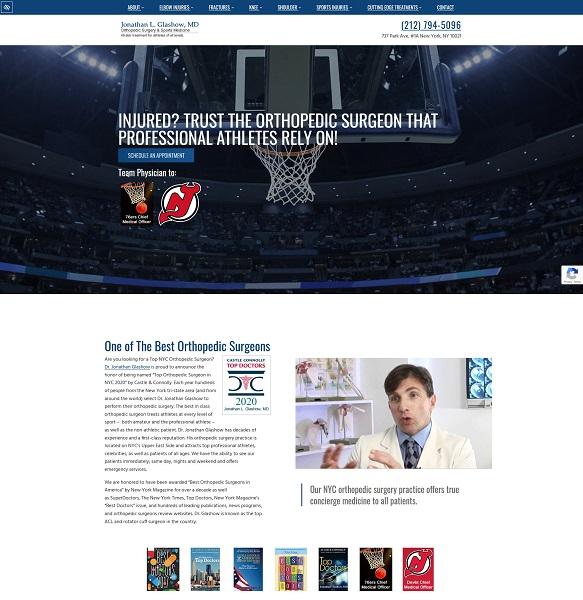 Jonathan Glashow, MD, Orthopedic Surgery & Sports Medicine website