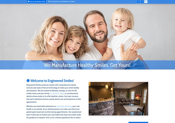 Engineered Smiles website
